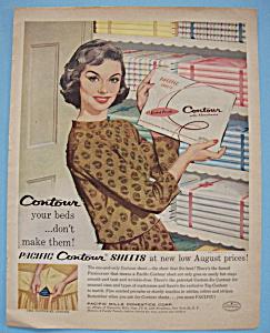 Vintage Ad: 1958 Pacific Contour Sheets (Image1)