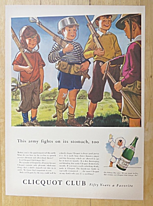1942 Clicquot Club Soda With Boys Playing Army