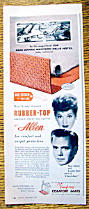 Vintage Ad: 1957 Allen Rubber Top with Lucille Ball (Image1)