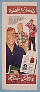 Vintage Ad: 1952 Paddle & Saddle Boy's Wear