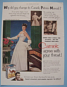 Vintage Ad: 1952 Camel Cigarettes w/ Patrice Munsel (Image1)