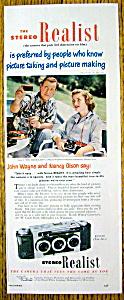 1952 Stereo Realist Camera w/John Wayne & Nancy Olson (Image1)
