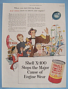 Vintage Ad: 1953 Shell X-100 Motor Oil (Image1)