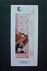 1955 Varlar Stainproof Wall Covering w/ Woman Sitting (Image1)
