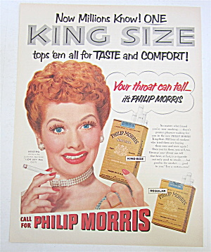 1953 Philip Morris Cigarettes with Lucille Ball (Image1)