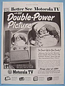 1953 Motorola TV w/ Double Power Picture w/Santa Claus (Image1)