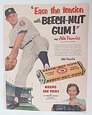 1952 Beech Nut Gum with Baseball's Allie Reynolds (Image1)