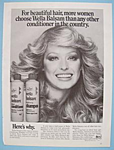 Vintage Ad: 1976 Wella Balsam w/ Farrah Fawcett (Image1)