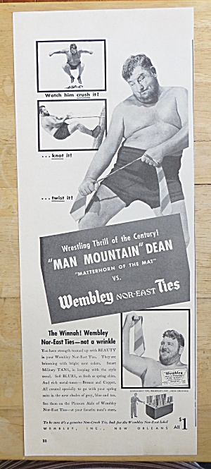 1942 Wembley Ties with Man Mountain Dean  (Image1)