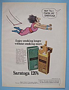 Vintage Ad: 1976 Saratoga 120's Cigarettes (Image1)