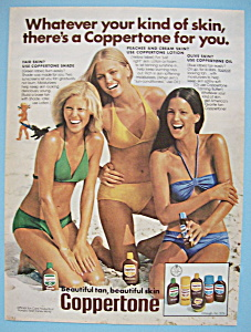1976 Coppertone With Three Women On Beach