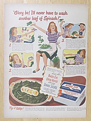 1945 Birds Eye Vegetables with Dinah Shore  (Image1)