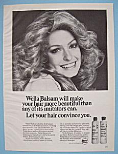 Vintage Ad: 1975 Wella Balsam w/ Farrah Fawcett (Image1)