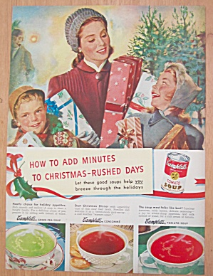 1946 Campbell's Soup w/Mom & Kids Christmas Shopping  (Image1)