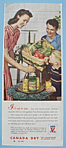 Vintage Ad: 1943 Canada Dry Ginger Ale