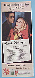 Vintage Ad: 1943 Woodbury Cold Cream w/ Veronica Lake (Image1)