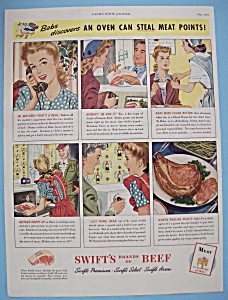 Vintage Ad: 1944 Swift's Brands Of Beef (Image1)