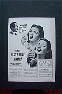 1942 Listerine with Woman Sneezing & Man Coughing  (Image1)