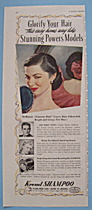 Vintage Ad: 1944 Kreml Shampoo w/ John Powers Model (Image1)