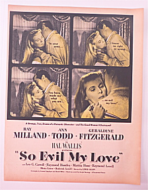 1948 So Evil My Love W/ Ray Milland & Ann Todd