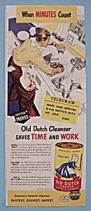 Vintage Ad: 1946 Old Dutch Cleanser (Image1)