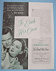 Vintage Ad: 1946 To Each His Own w/ Olivia DeHavilland (Image1)