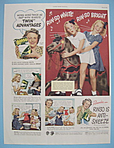 Vintage Ad: 1946 Rinso Soap (Image1)