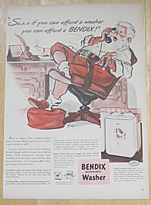 1947 Bendix Automatic Washer with Santa Claus in Chair (Image1)