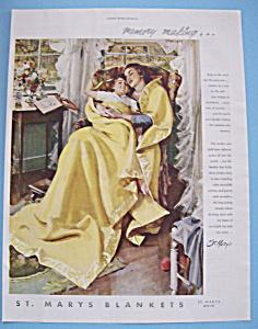 Vintage Ad: 1949 St. Marys Blankets (Image1)