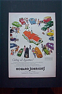 1950 Howard Johnson's with Cars Circling All Around It  (Image1)