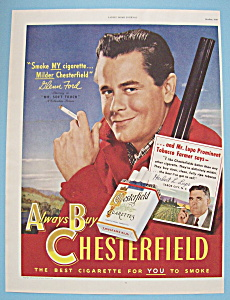1949 Chesterfield Cigarettes with Glenn Ford (Image1)