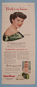 Vintage Ad: 1949 Sweetheart Toilet Soap (Image1)