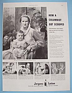 Vintage Ad: 1949 Jergens Lotion w/ Igor Cassini (Image1)
