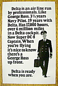 Vintage Ad: 1971 Delta Air Lines With George Ross