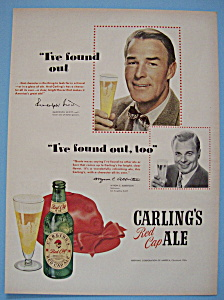 Vintage Ad: 1950 Carling's Red Cap Ale w/Randolph Scott (Image1)