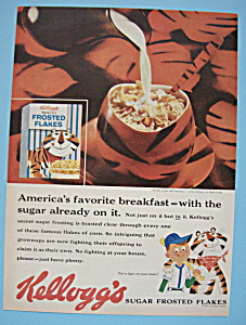 1959 Kellogg's Sugar Frosted Flakes Cereal with Tony (Image1)