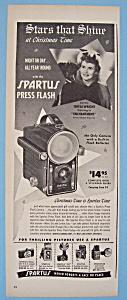 Vintage Ad: 1948 Spartus Press Flash w/ Teresa Wright (Image1)