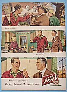 Vintage Ad: 1948 Schlitz Beer (Image1)