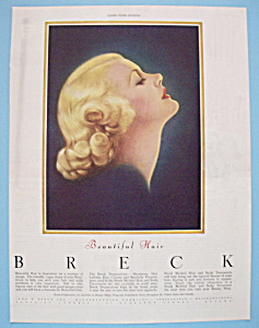 1946 Breck Shampoo w/Side View Of Blonde Woman (Image1)