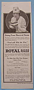 Vintage Ad: 1918 Royal Baking Powder