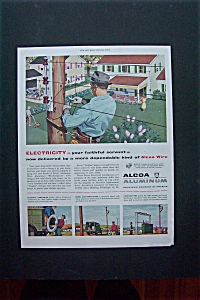 1950 Alcoa Aluminum with Man Fixing Some Wiring  (Image1)