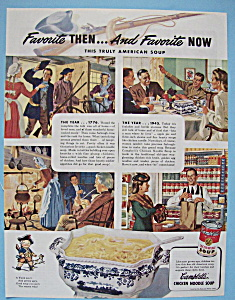 Vintage Ad: 1945 Campbell's Chicken Noodle Soup (Image1)