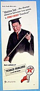 Vintage Ad: 1942 Texaco Dealers w/ Fred Allen (Image1)