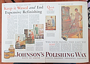 1928 Johnson's Wax With The Many Uses Of The Wax