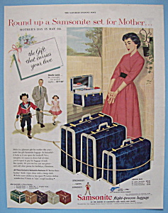 Vintage Ad: 1954 Samsonite Luggage (Image1)