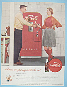 1955 Coca Cola (Coke) W/man & Woman Getting Soda
