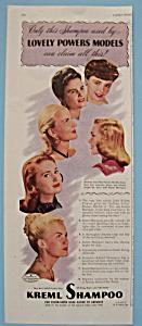 Vintage Ad: 1946 Kreml Shampoo w/ Powers Models (Image1)