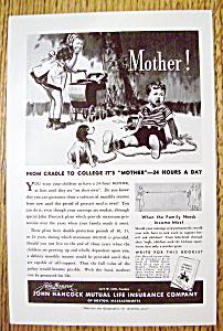 Vintage Ad: 1939 John Hancock Mutual Life Insurance Co (Image1)