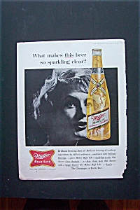 1961 Miller High Life Beer w/Woman with Bottle of Beer (Image1)