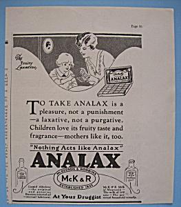 Vintage Ad: 1926 Analax (Image1)